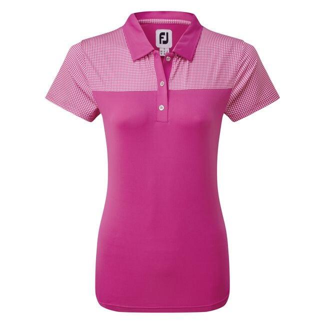 Women's Lisle Shirt with Dot Print Yoke