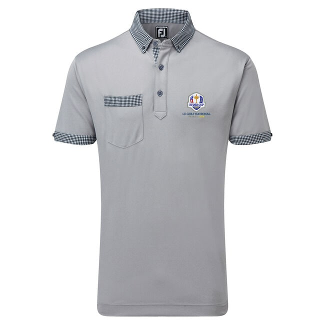 2018 Ryder Cup Smooth Pique with Houndstooth Collar