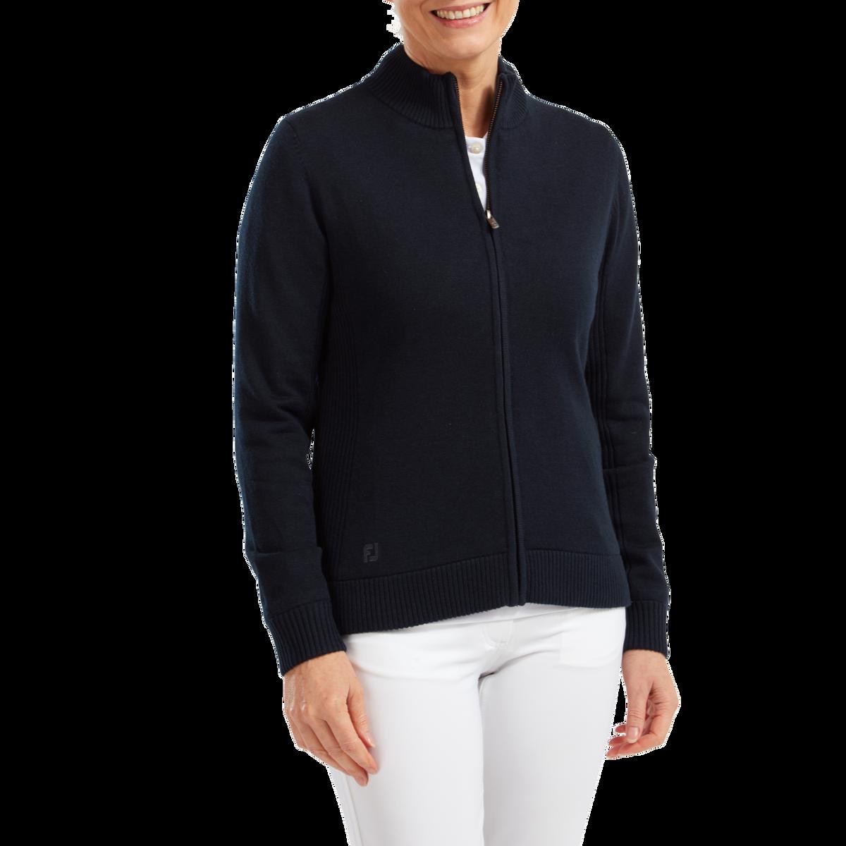 Women's Full-Zip Lined Wool Blend Pullover
