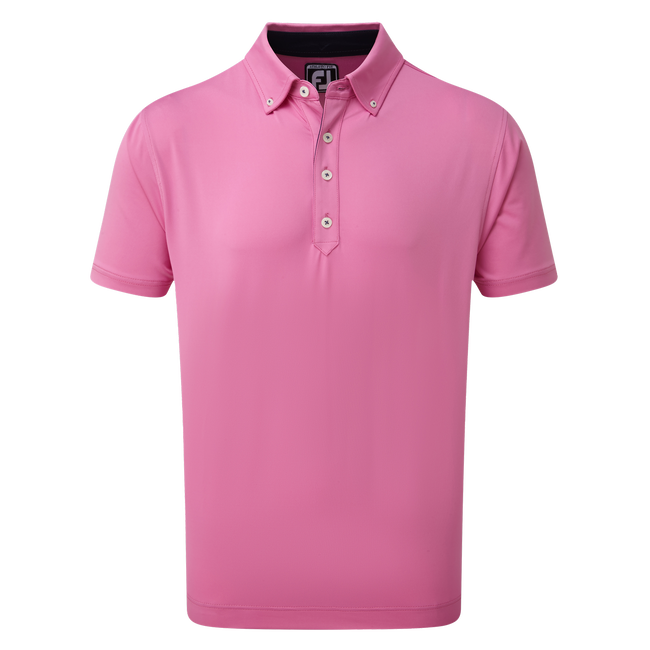 Unifarbenes Jersey-Shirt mit Button-Down-Kragen