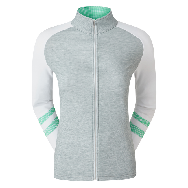 Women's Full Zip Raglan Colour Block Mid-Layer