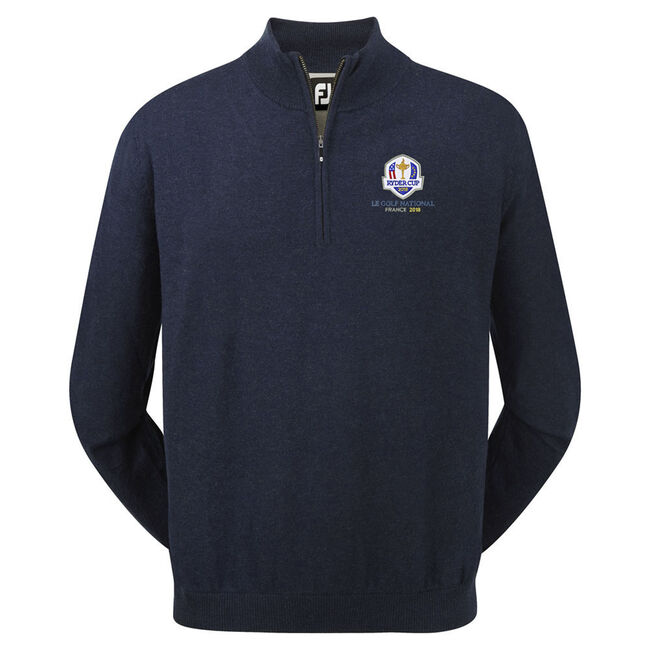 2018 Ryder Cup Pullover Lambswool avec demie fermeture Éclair