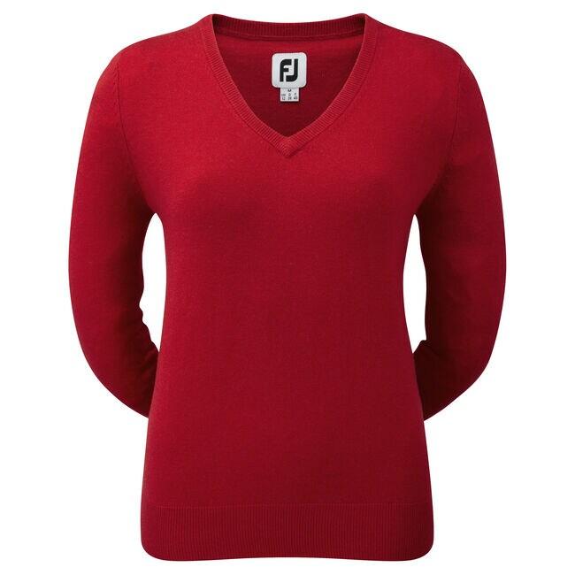 Lambswool V-Neck Pullover Damen-Vorjahresmodell