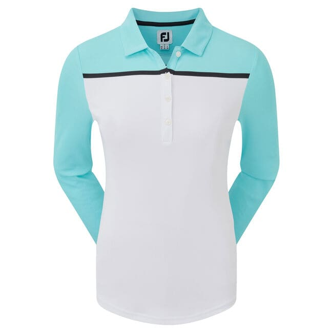 Smooth Pique Long Sleeved Colour Block Women-Previous Season Style