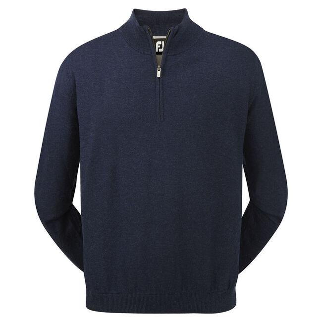 Lambswool Half Zip Lined Pullover-Vorjahresmodell