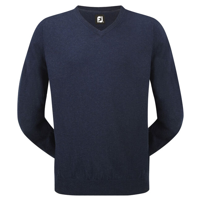 Lambswool V-Neck Pullover-Vorjahresmodell