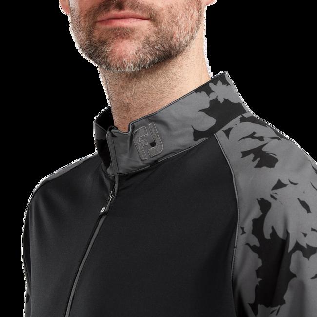 Midlayer mit Camouflage-Raglanärmeln und 1/2 Reißverschluss