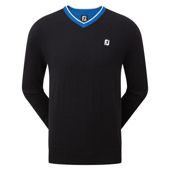 Wool Blend V-Neck Pullover-Vorjahresmodell