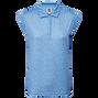 Shirt mit Interlock-Print und Mini-Cap-Ärmeln