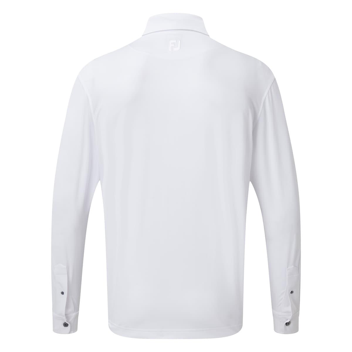 Chemise stretch à manches longues avec imprimé pied-de-poule