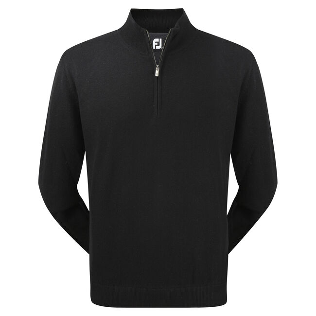 Lambswool Half Zip Lined Pullover