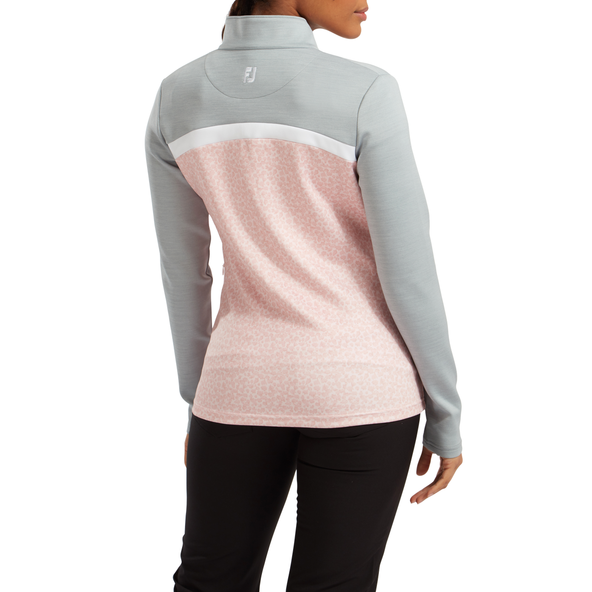 Pullover Full-Zip blocs de couleurs & imprimé camouflage pour femme
