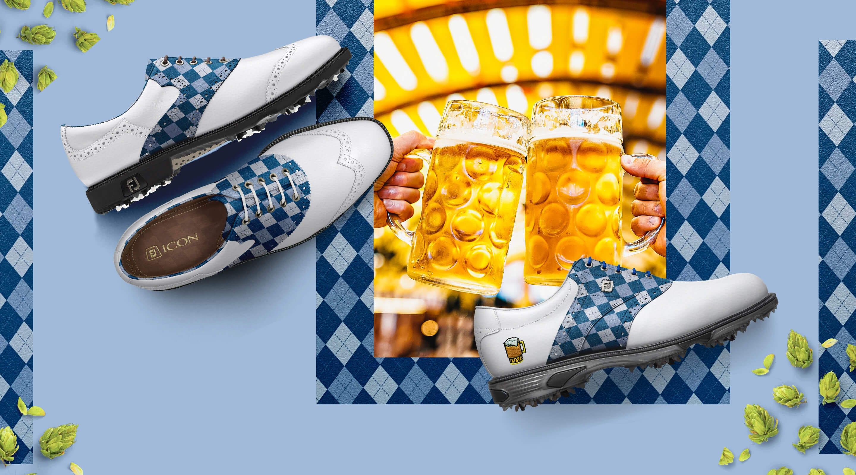 FootJoy Design My Own MyJoys Custom Golf Shoes - Oktoberfest Leather